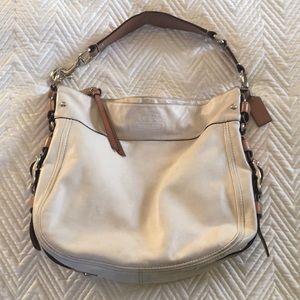 Coach white shoulder bag